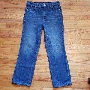 Express - Straight Crop High Rise Denim Jean 4